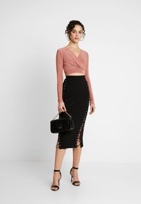 Missguided - MIDAXI SKIRT - Maxiskjørt - black - 1