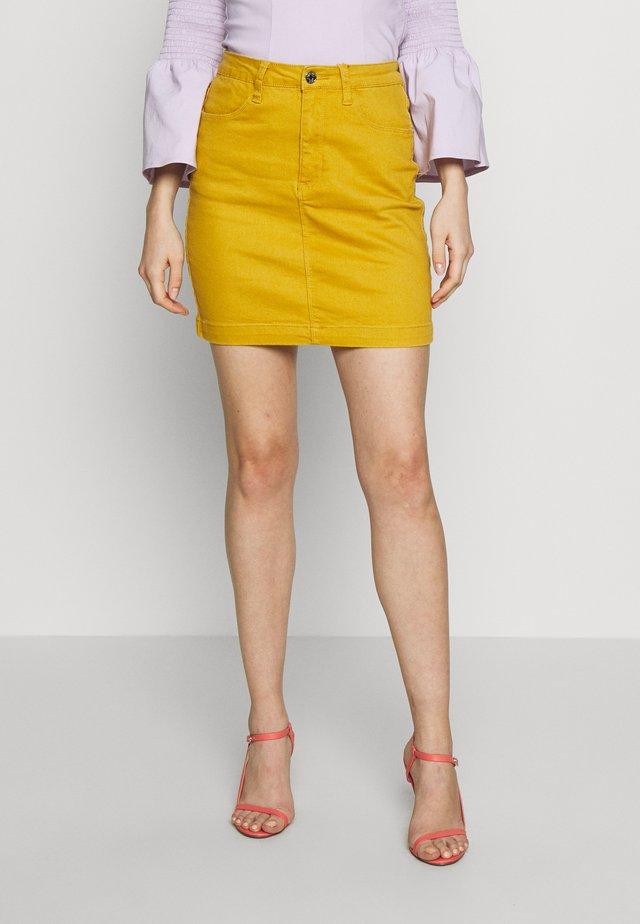 SUPER STRETCH SKIRT - Pencil skirt - mustard