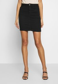 Missguided - SUPER STRETCH SKIRT - Mini skirt - black - 0