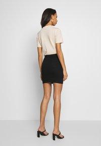 Missguided - SUPER STRETCH SKIRT - Mini skirt - black - 2
