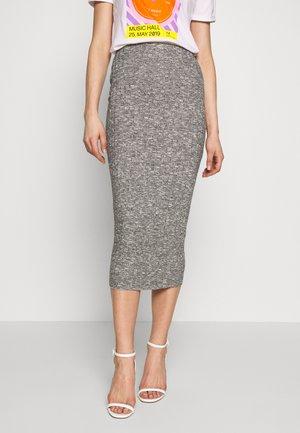 MARL MIDI SKIRT - Pouzdrová sukně - grey