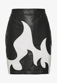 Missguided - FESTIVAL EXCLUSIVE FLAME SKIRT - Minisukně - black - 0