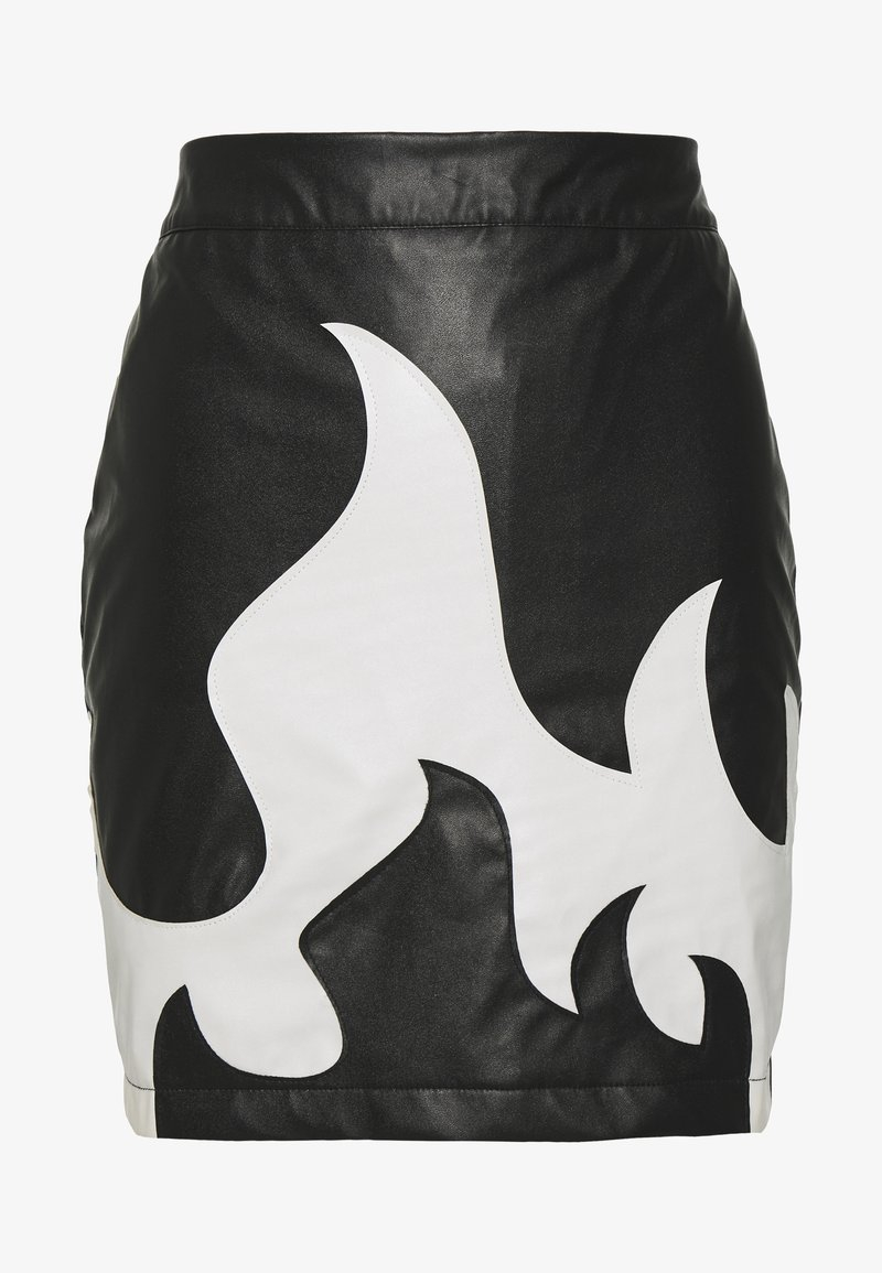 Missguided - FESTIVAL EXCLUSIVE FLAME SKIRT - Minisukně - black
