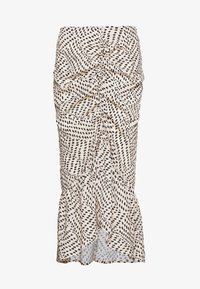 Missguided - DALMATIAN PRINT RUCHED MIDI SKIRT - Jupe crayon - nude - 0
