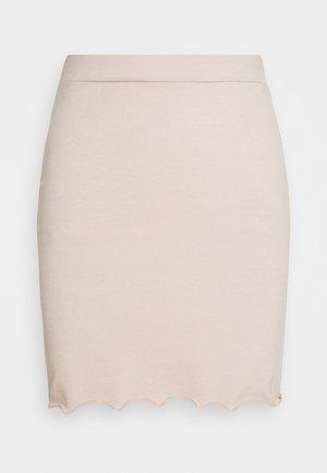 LETTUCE MINI SKIRT - Mini skirt - nude