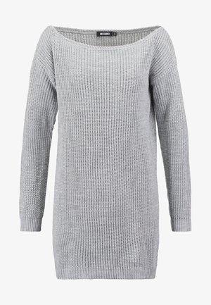 AYVAN OFF SHOULDER - Abito in maglia - light grey