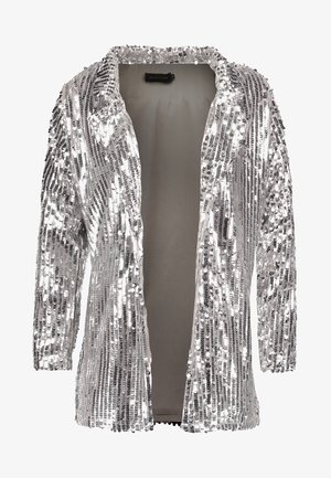 PEACE LOVE SEQUIN  - Kort kappa / rock - silver