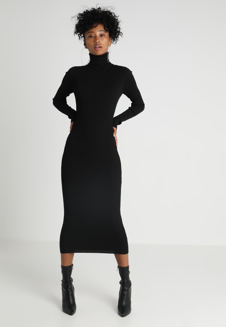 roll-neck-ribbed--mini-dress---robe-pull by missguided