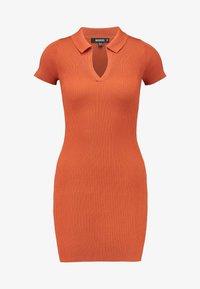Missguided - COLLAR PLUNGE MINI DRESS - Robe fourreau - rust - 5