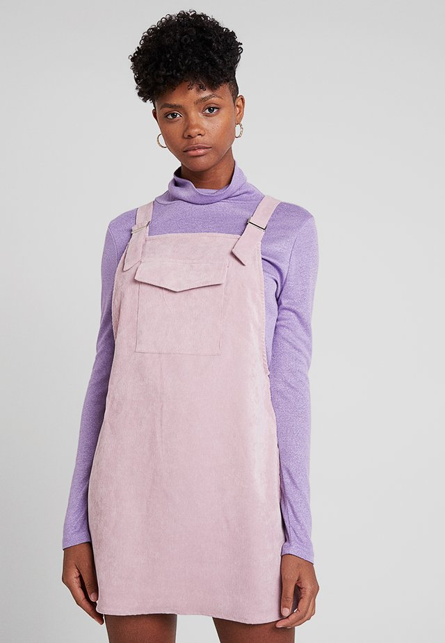 FRONT POCKET PINAFORE - Day dress - pink