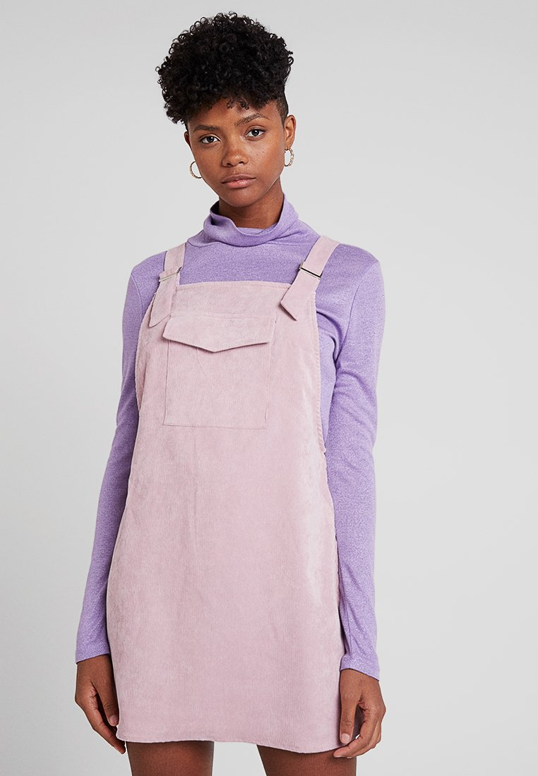 Missguided - FRONT POCKET PINAFORE - Vestito estivo - pink