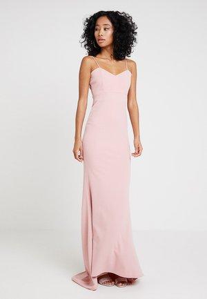 BRIDESMAID SWEETHEART NECK MAXI DRESS WITH TRAIN - Suknia balowa - blush pink