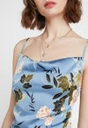 Missguided - FLORAL COWL NECK SIDE SPLIT MAXI - Maxikleid - blue
