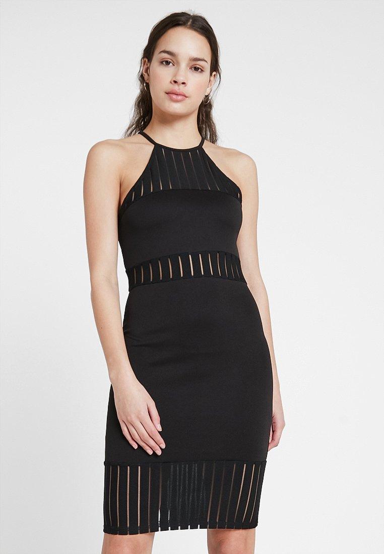 Missguided - SLEEVELESS PANEL MIDI - Jersey dress - black