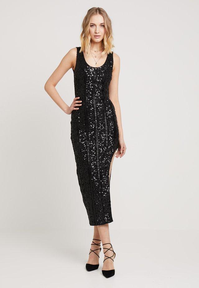 PEACE + LOVE SCOOP BACK EMBELLISHED MIDI DRESS - Cocktail dress / Party dress - black