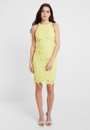 HALTER NECK MINIDRESS - Vestito elegante - yellow