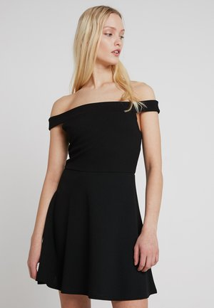 BARDOT SKATER DRESS - Kjole - black