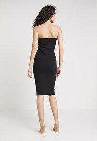 Missguided - BANDEAU BODYCON DRESS - Vestido de tubo - black - 2