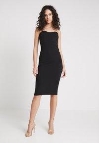 Missguided - BANDEAU BODYCON DRESS - Vestido de tubo - black - 0