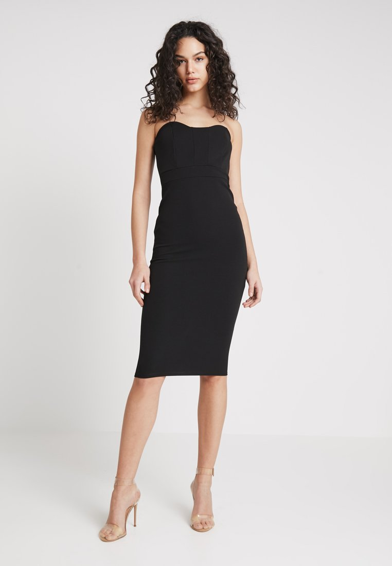 Missguided - BANDEAU BODYCON DRESS - Vestido de tubo - black