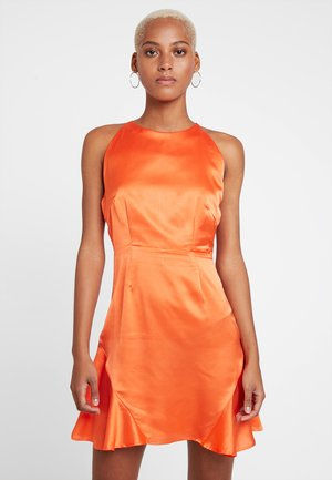 HALTER NECK FLIPPY DRESS - Koktejlové šaty / šaty na párty - bright orange