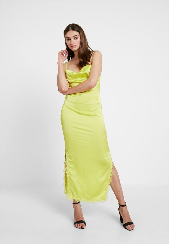 SIDE SPLIT DRESS - Maxi dress - limeade