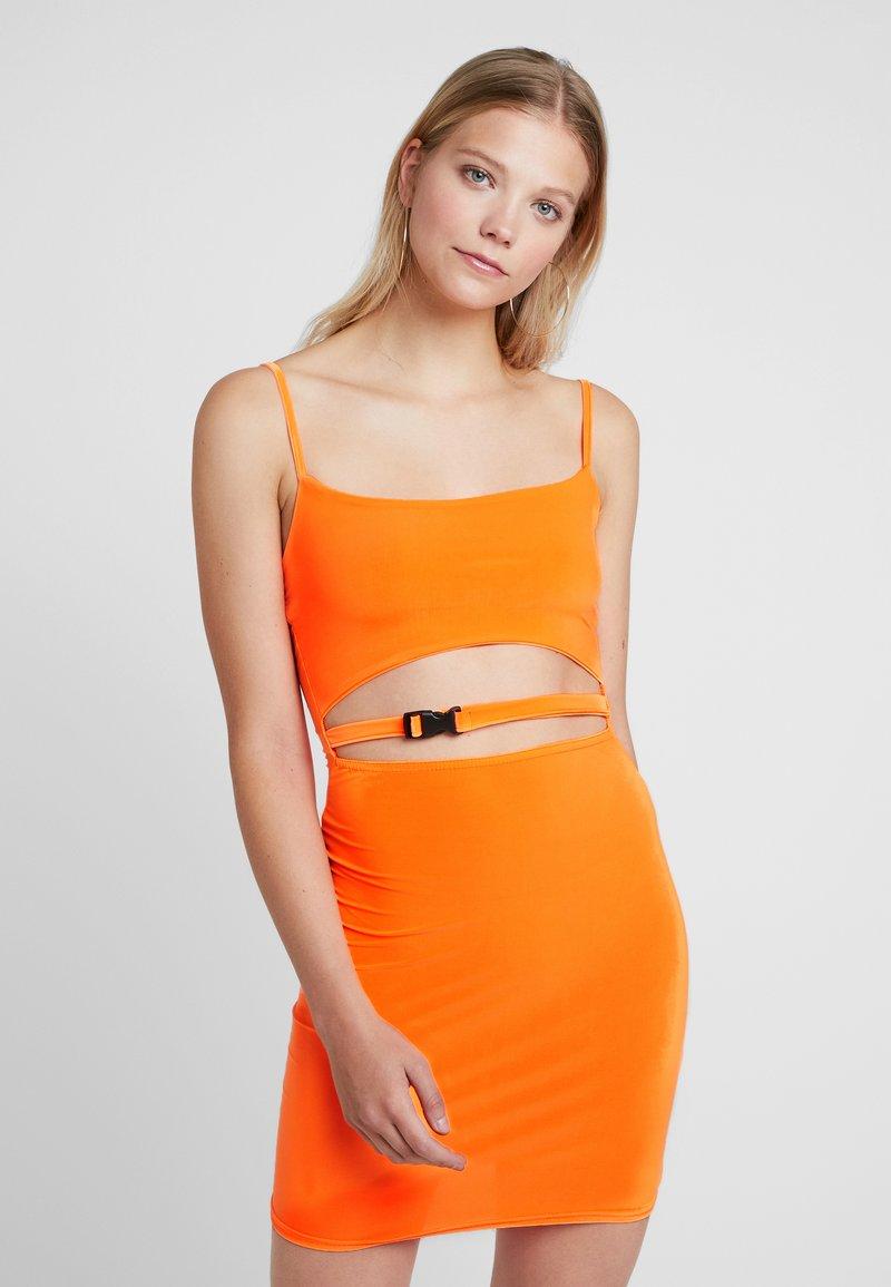 Missguided - SLINKY BUCKLE CUT OUT MINI DRESS - Etuikjoler - orange