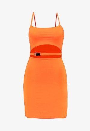 SLINKY BUCKLE CUT OUT MINI DRESS - Etui-jurk - orange