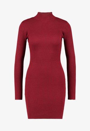 BASIC HIGH NECK LONG SLEEVE JUMPER DRESS - Etui-jurk - bordeaux