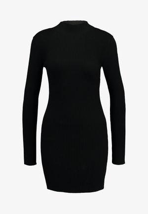 BASIC HIGH NECK LONG SLEEVE JUMPER DRESS - Shift dress - black