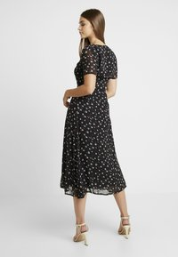Missguided - FLORAL BUTTON FRONT MAXI DRESS - Maxi šaty - black - 3