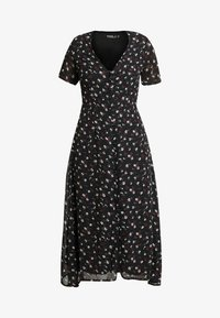 Missguided - FLORAL BUTTON FRONT MAXI DRESS - Maxi šaty - black - 4