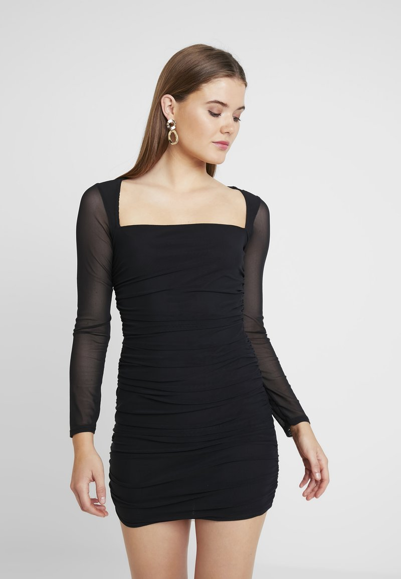 Missguided - SQUARE NECK BODYCON MINI DRESS - Robe fourreau - black