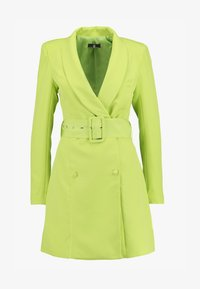 Missguided - SELF BELTED DRESS - Košilové šaty - lime - 3