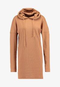 Missguided - HOODIE DRESS - Jersey dress - camel - 4