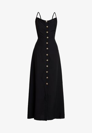 CAMI HORN BUTTON DRESS PLAIN - Maxi-jurk - black
