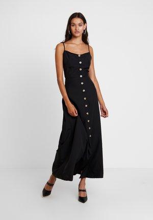CAMI HORN BUTTON DRESS PLAIN - Maxi šaty - black