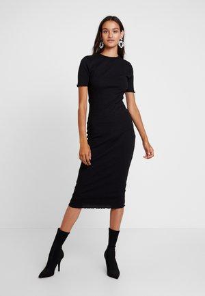 LETTUCE HEM MIDI DRESS - Vestido de tubo - black