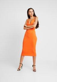 Missguided - MULTIWAY STRAP DRESS - Vestito estivo - orange - 2