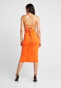 Missguided - MULTIWAY STRAP DRESS - Vestito estivo - orange - 3