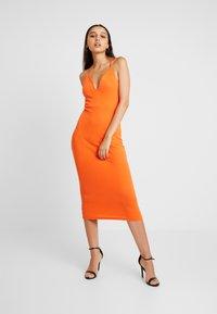 Missguided - MULTIWAY STRAP DRESS - Vestito estivo - orange - 0