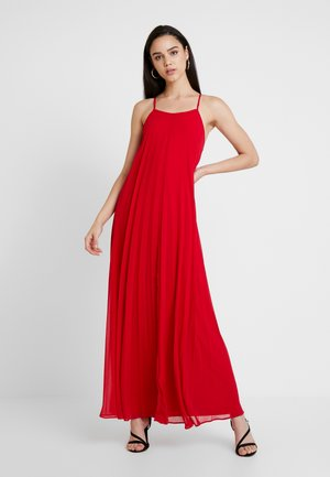 STRAPPY PLEATED DRESS - Robe longue - red