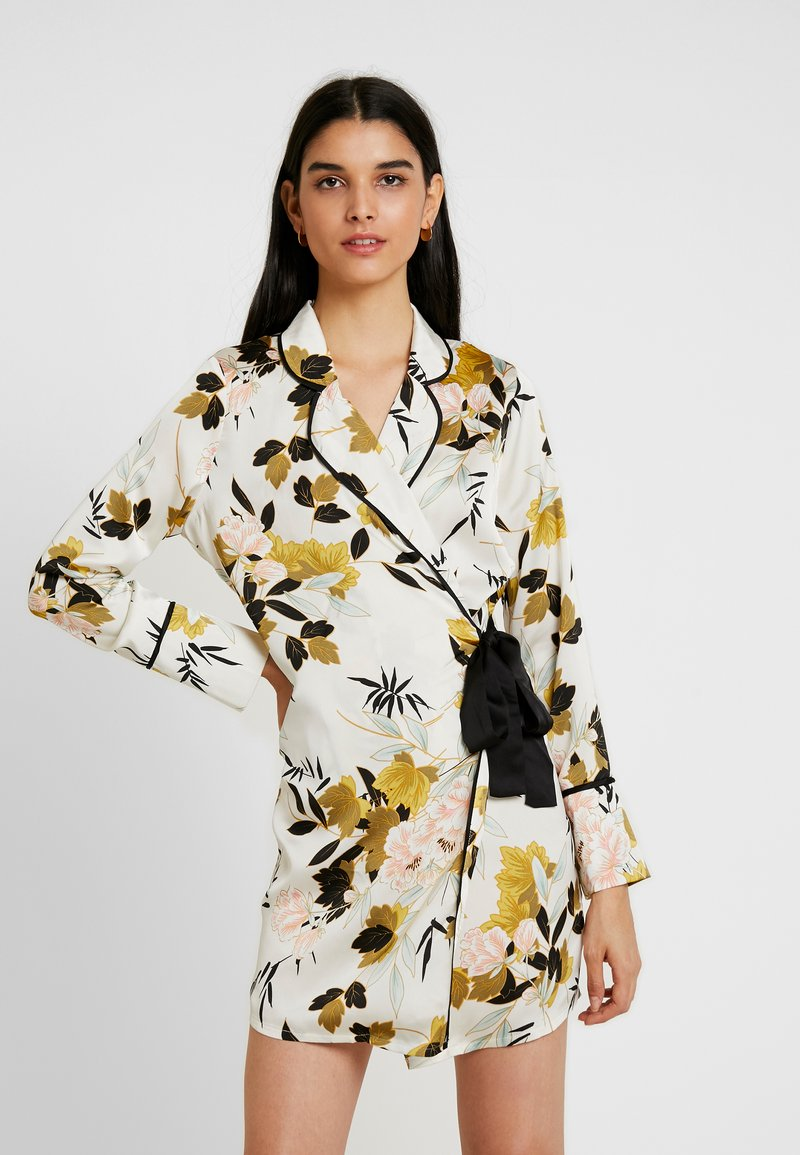 Missguided - DRESS FLORAL - Kjole - cream