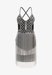 Missguided - EMBELLISHED FRINGED MINI DRESS - Cocktailkjole - black - 6