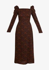 Missguided - LEOPARD PRINT SQUARE NECK SLIT FRONT DRESS - Vestido informal - black - 5