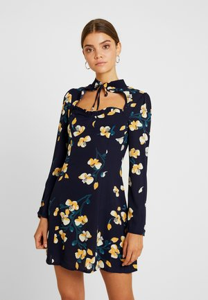 OPEN FRONT MINI DRESS - Robe d'été - navy