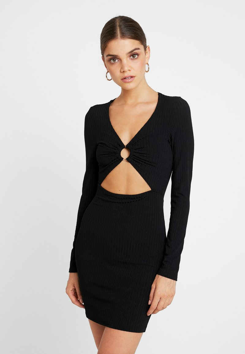 Missguided - O RING CUT OUT MINI DRESS - Cocktailkleid/festliches Kleid - black