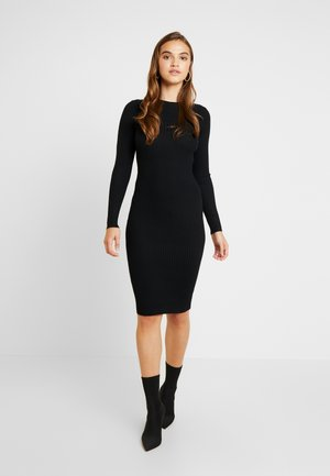 VARIATED MIDI DRESS - Shift dress - black