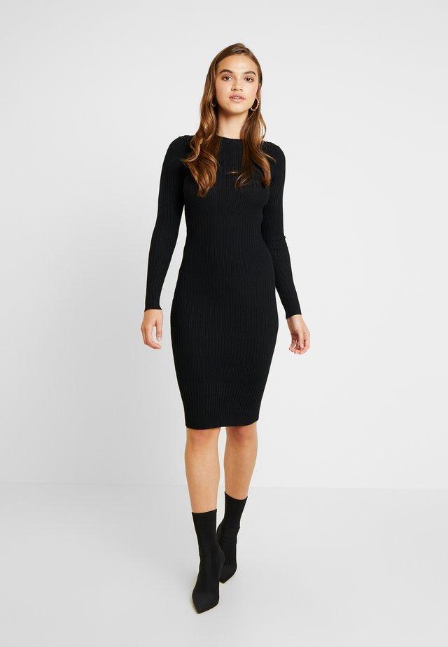 VARIATED MIDI DRESS - Etui-jurk - black