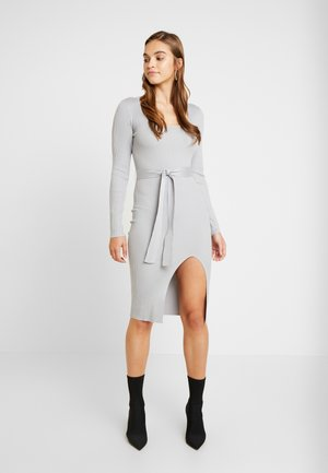 WAIST MIDI DRESS - Fodralklänning - grey
